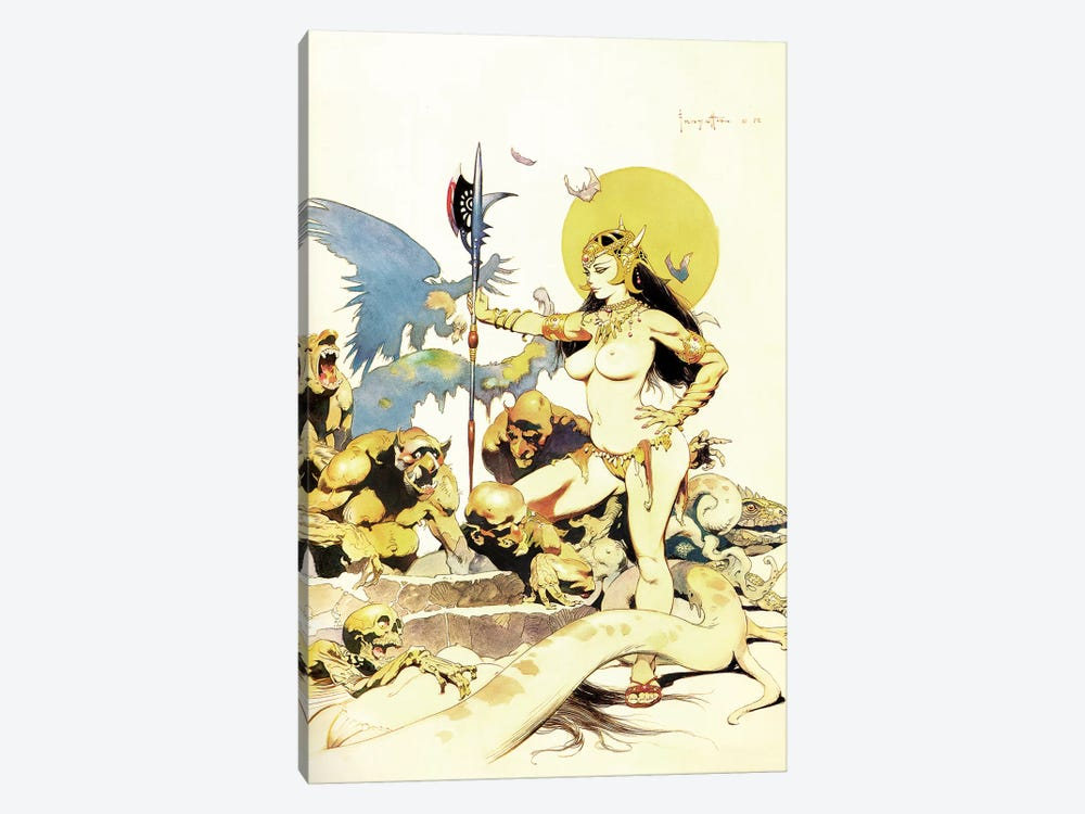 Ghoul Queen by Frank Frazetta 1-piece Canvas Print