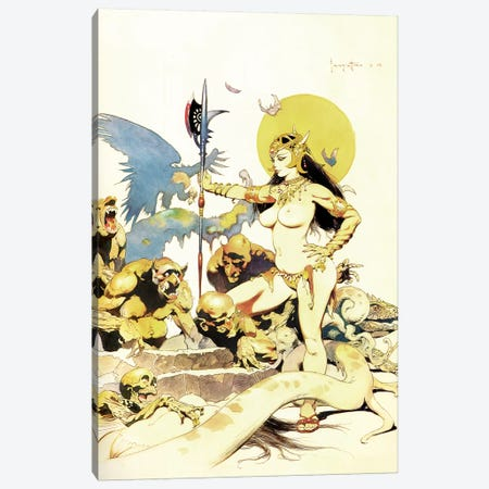 Ghoul Queen Canvas Print #FRF63} by Frank Frazetta Canvas Art Print