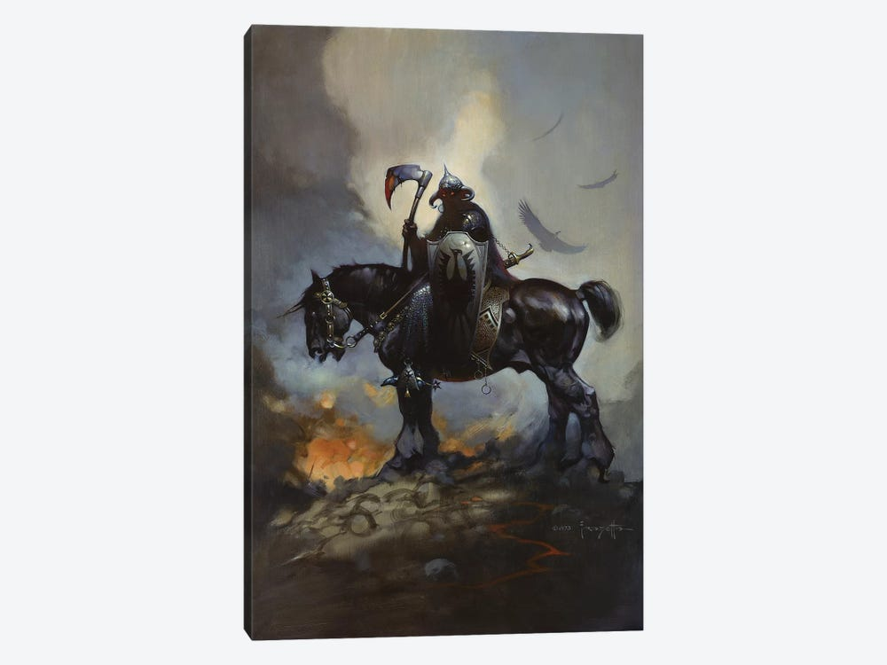 Death Dealer by Frank Frazetta 1-piece Canvas Art Print