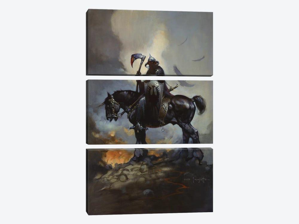 Death Dealer by Frank Frazetta 3-piece Canvas Art Print