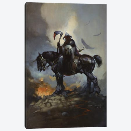 Death Dealer Canvas Print #FRF6} by Frank Frazetta Canvas Wall Art