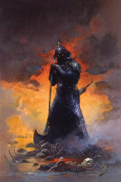 Death Dealer Iii Canvas Wall Art By Frank Frazetta Icanvas