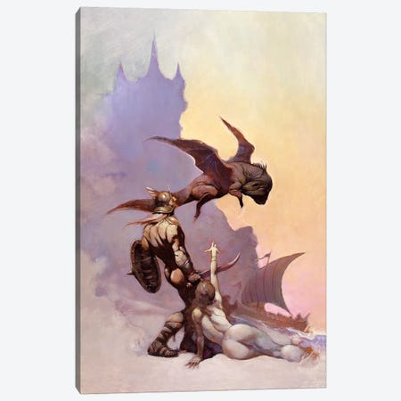 Kavin's World 3-Piece Canvas #FRF72} by Frank Frazetta Canvas Artwork