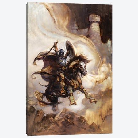 Defender 3-Piece Canvas #FRF77} by Frank Frazetta Canvas Art Print