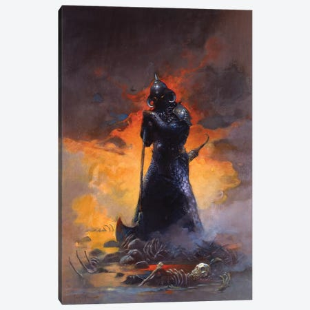 Death Dealer III Canvas Print #FRF7} by Frank Frazetta Canvas Wall Art
