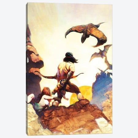 Prehistoric Times 3-Piece Canvas #FRF82} by Frank Frazetta Canvas Print