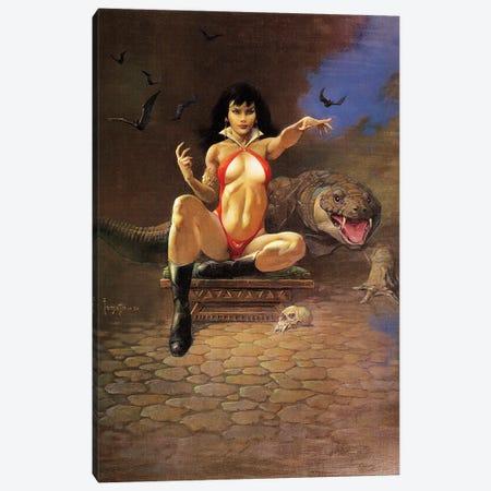 Vampire Woman Canvas Print #FRF83} by Frank Frazetta Canvas Art Print