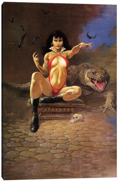 Vampire Woman Canvas Art Print