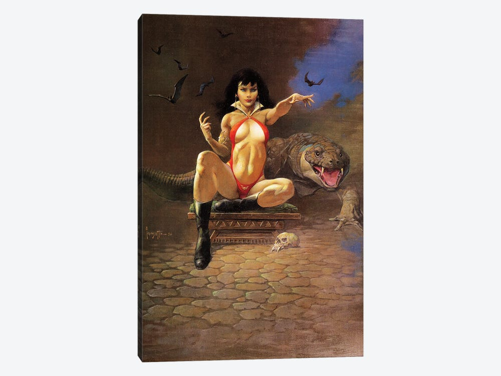 Vampire Woman by Frank Frazetta 1-piece Canvas Art Print