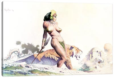 Sabertooth Princess Canvas Art Print