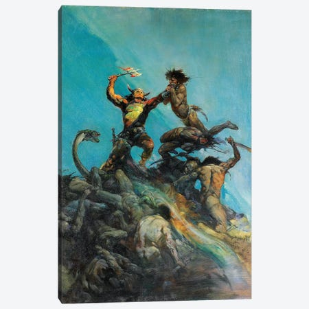 Indomitable Canvas Print #FRF8} by Frank Frazetta Canvas Print