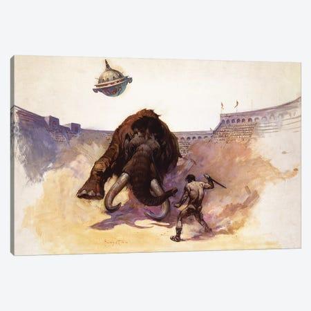 Mastodon Canvas Print #FRF9} by Frank Frazetta Art Print