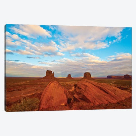 USA, Arizona-Utah border. Monument Valley, The Mittens and Merrick Butte. Canvas Print #FRI10} by Bernard Friel Canvas Art Print