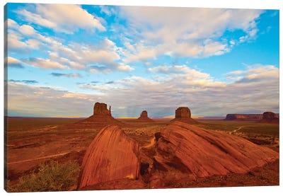 USA, Arizona-Utah border. Monument Valley, The Mittens and Merrick Butte. Canvas Art Print