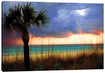Cloudy Sunset, Siesta Key, Sarasota County, Florida, USA Canvas Art Print