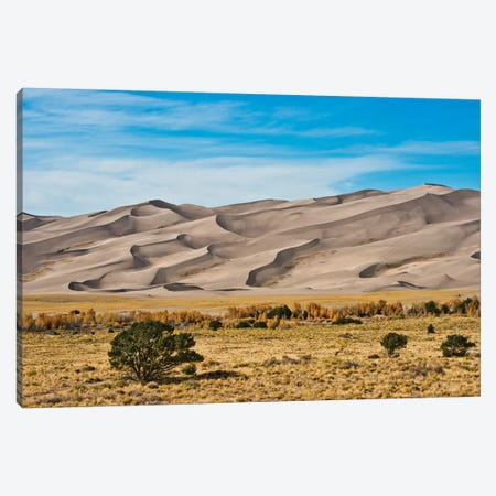 USA, Colorado, Alamosa, Great Sand Dunes National Park and Preserve I Canvas Print #FRI3} by Bernard Friel Canvas Art