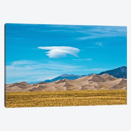 USA, Colorado, Alamosa, Great Sand Dunes National Park and Preserve II Canvas Print #FRI4} by Bernard Friel Canvas Print