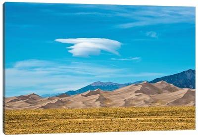 USA, Colorado, Alamosa, Great Sand Dunes National Park and Preserve II Canvas Art Print