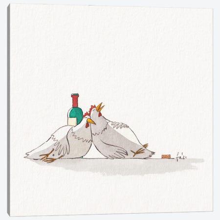 Drunk Canvas Print #FRK58} by Friederike Ablang Canvas Art Print