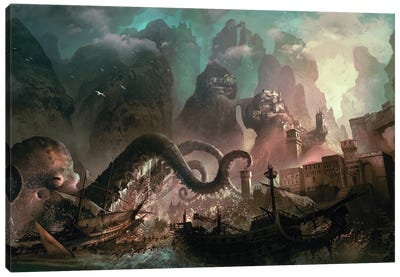 Monster Raid Canvas Art Print
