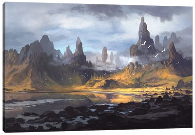 Mt Alebur Canvas Art Print