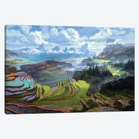 Rice Terreces Canvas Print #FRL20} by Ferdinand Ladera Canvas Print