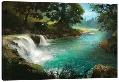 Stream Canvas Art Print
