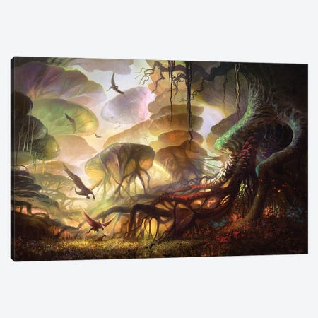 The Forest Of Keilah Canvas Print #FRL26} by Ferdinand Ladera Canvas Artwork