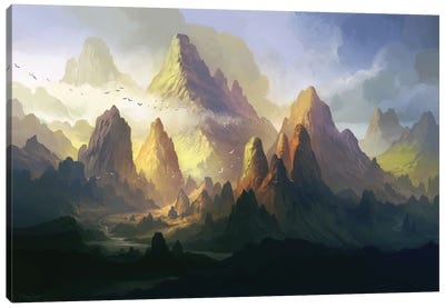 The Land Of Angol-Elm Canvas Art Print