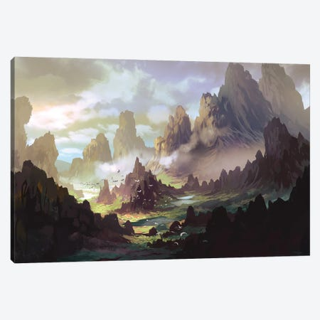 The Land Of Ar-Kinuth Canvas Print #FRL29} by Ferdinand Ladera Canvas Print