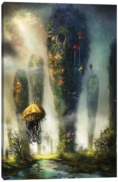 The Towers Of Keilah Canvas Art Print