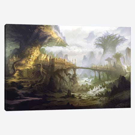 The Town Of Aldackelm Canvas Print #FRL33} by Ferdinand Ladera Canvas Art