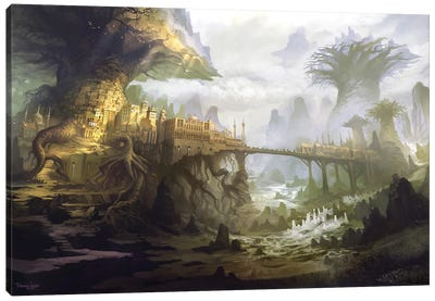 The Town Of Aldackelm Canvas Art Print