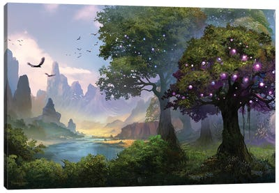 The Well Of Stars Canvas Art Print