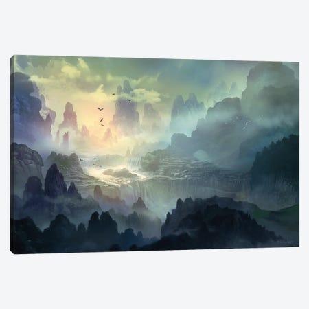 Torrent Of Gelion Canvas Print #FRL36} by Ferdinand Ladera Canvas Art Print