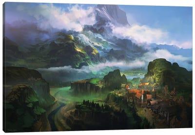 Uskina Küla Canvas Art Print