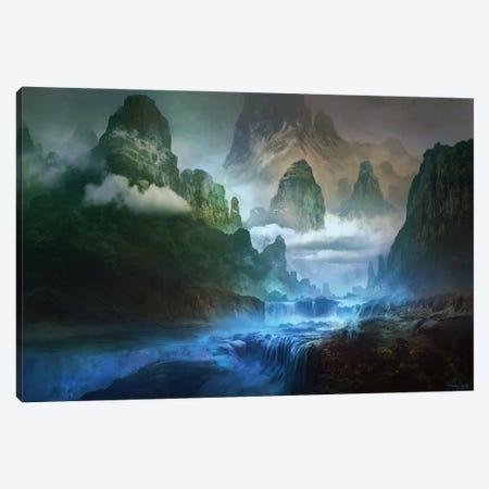 Blue-River Canvas Print #FRL4} by Ferdinand Ladera Canvas Artwork