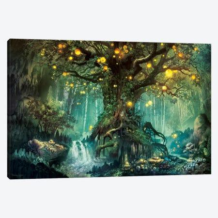 Dimlight Forest Canvas Print #FRL5} by Ferdinand Ladera Canvas Artwork