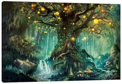Dimlight Forest Canvas Art Print