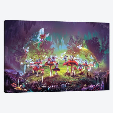 Dimlight forest Sorcerer's Ring Canvas Print #FRL6} by Ferdinand Ladera Canvas Art