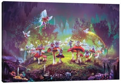Dimlight forest Sorcerer's Ring Canvas Art Print