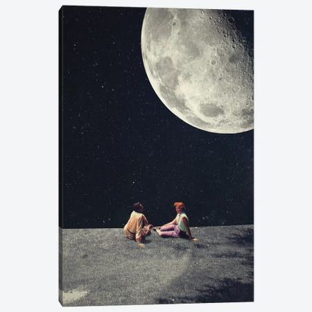 I Gave You the Moon for a Smile Canvas Print #FRM12} by Frank Moth Art Print