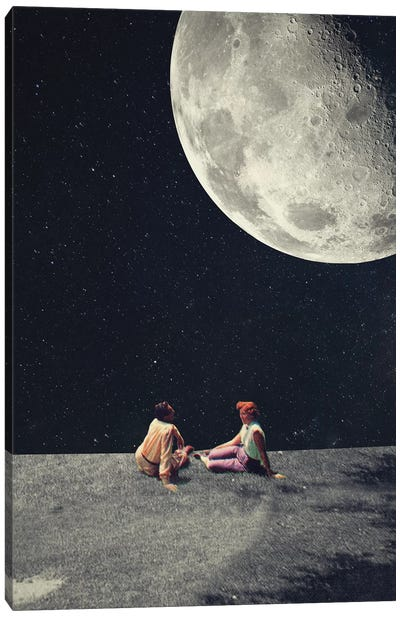 I Gave You the Moon for a Smile Canvas Art Print