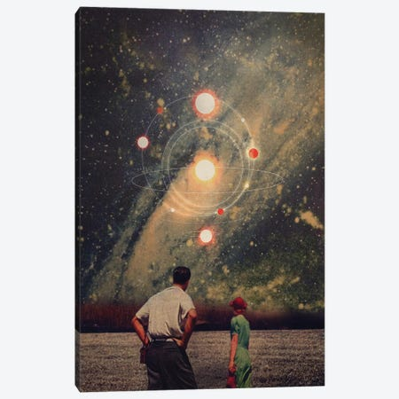 Light Explosions in our Sky Canvas Print #FRM16} by Frank Moth Canvas Art