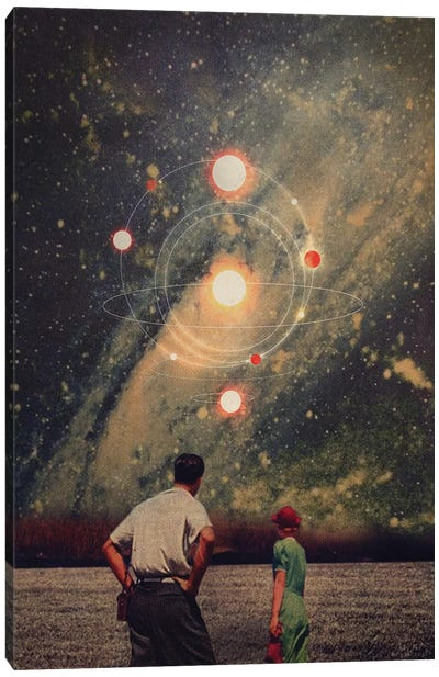 Light Explosions in our Sky Canvas Art Print