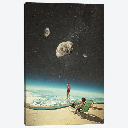 Summer with a chance of Asteroids Canvas Print #FRM37} by Frank Moth Canvas Wall Art