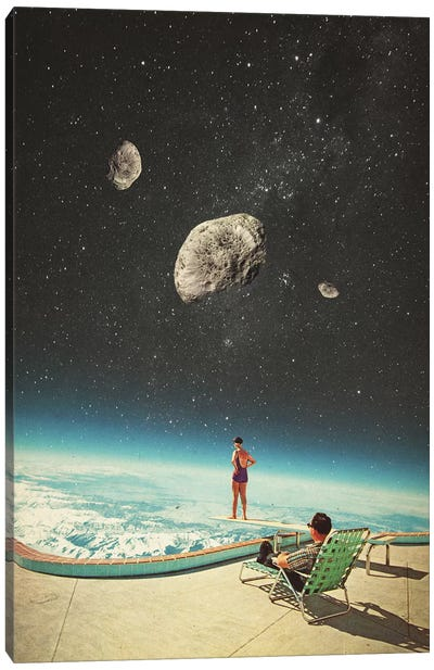 Summer with a chance of Asteroids Canvas Art Print