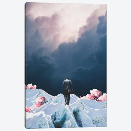 The Path to Solitude is full of Winter Roses 3-Piece Canvas #FRM41} by Frank Moth Canvas Wall Art
