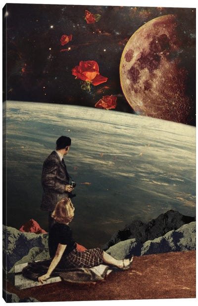 The Roses Came Canvas Art Print