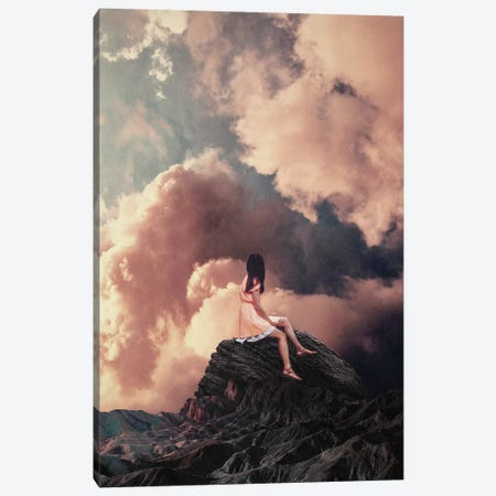 You came from the Clouds Canvas Print #FRM54} by Frank Moth Canvas Art